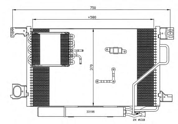 35774 Конденсер MB C(W203) 00-07