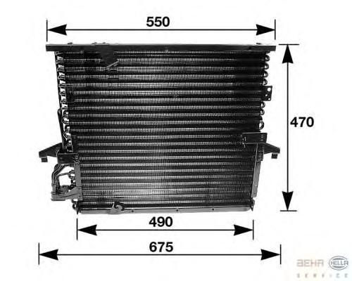 8FC351035031 Конденсатор кондиционера BMW: 3 (E36) 316 i/318 i/318 is/320 i/325 i 90-98, 3 кабрио (E36) 318 i/320 i/325 i 93-99,