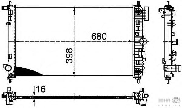 8MK376754311 Радиатор OPEL INSIGNIA 2.0T A/T 08-