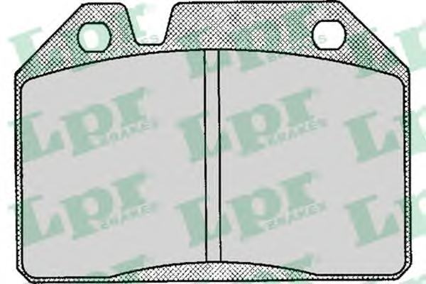 05P123 Колодки тормозные PEUGEOT 204/304/404 1.1-1.6 67-80 передние