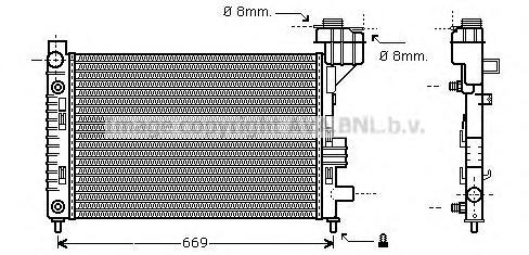 MSA2248 Радиатор MB W168 1.4/1.9 97-05