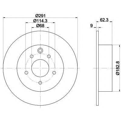 8DD355119101 Диск тормозной NISSAN JUKE 10-/QASHQAI 07- задний