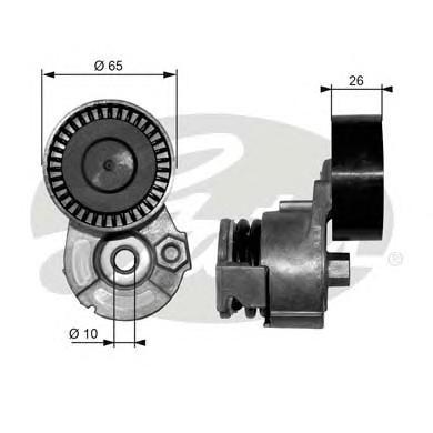 T39009 Натяжитель ремня приводного RENAULT LOGAN/MEGANE 1.5DCi/1.6 16v без конд
