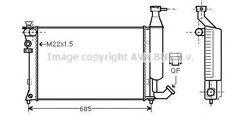 CNA2140 Радиатор CITROEN BERLINGO 1.4-1.8 96-99