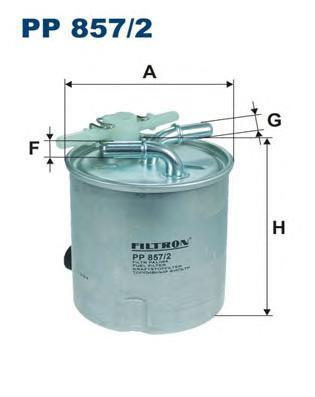 PP8572 Фильтр топливный NISSAN X-TRAIL/QASHQAI 2.0D 07-