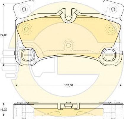 6117759 Колодки тормозные AUDI Q7/VW TOUAREG 4.2-6.0/PORSCHE CAYENNE 06- задние