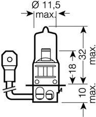 6415601B Лампа H3 24V-70W (PK22s) ORIGINAL LINE (блистер 1шт.)