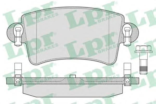 05P791 Колодки тормозные NISSAN INTERSTAR/OPEL MOVANO/RENAULT MASTER 98- задние