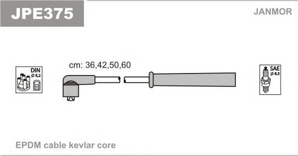 JPE375 Комплект проводов зажигания KIA: RIO 1.3 00-