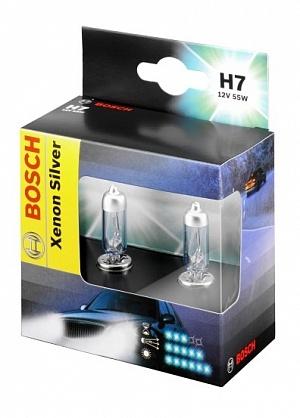1987301087 Лампа H7 55W PX26d Xenon Silver (компл.blister 2шт.)
