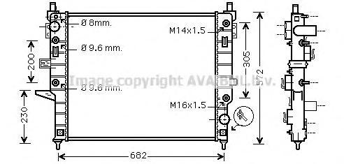 MSA2271 Радиатор MB W163 2.3/5.5 98-07