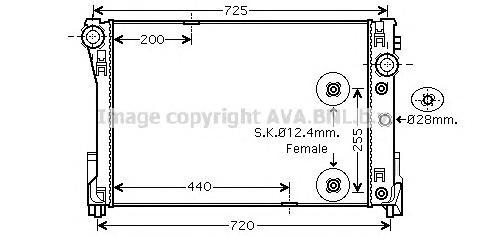 MS2452 Радиатор MB W204/W212 1.8-3.5/2.0-2.2D A/T 07-