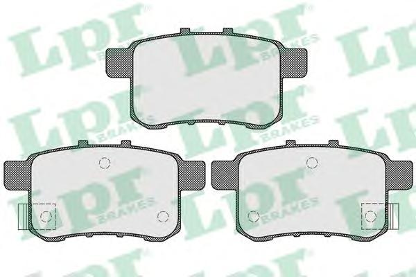 05P1569 Колодки тормозные HONDA ACCORD 2.0-2.4 МКПП 08- задние