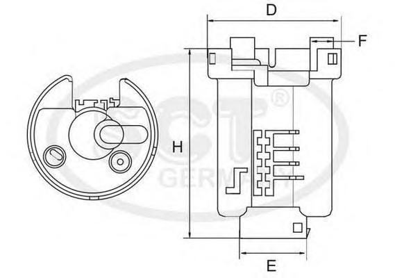 ST400 Фильтр топл Mazda 6