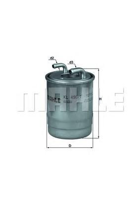 KL4901D Фильтр топливный MB SPRINTER 906 OM651/642 06-