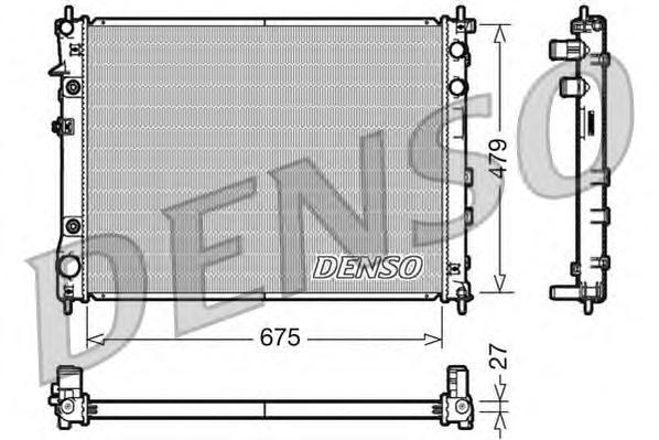 DRM36012 Радиатор охл. ДВС SUB B9 Tribeca Aut. 00.05-