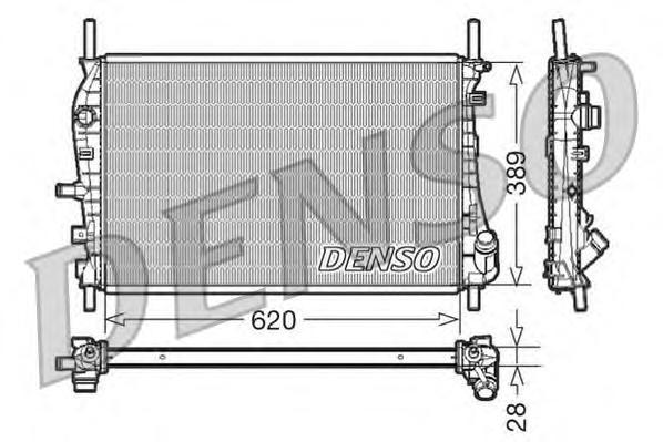 DRM10073 Радиатор охл. ДВС FO Mondeo III 11.00-08.07