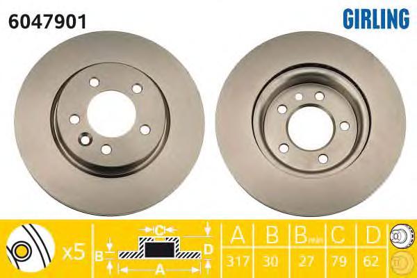 6047901 Тормозной диск