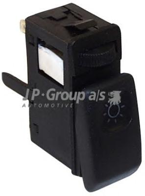 1196100400 Кнопка включения габаритных огней (с рег. яркости освещ. панели) / VW Golf-II,Jetta-II 88~