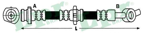 6T48226 Шланг тормозной NISSAN MICRA 03- передний/NOTE 06- передний правый