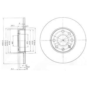 BG3402 Диск тормозной Fr Opel Astra G