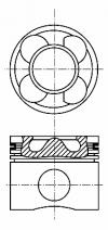 8713640000 Поршень MB C(W203)/E(W211)/VITO(W639) OM646-648 STD(комплект)