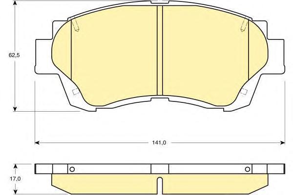 6131559 Колодки тормозные TOYOTA CAMRY 91-96/CELICA 2.0 93-99 передние