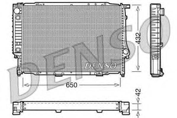 DRM05054 Радиатор системы охлаждения BMW: 5 (E34) 524 td 87 - 95 , 7 (E32) 750 i,iL V12 86 - 94 , 8 (E31) 850 i,Ci 90 - 99