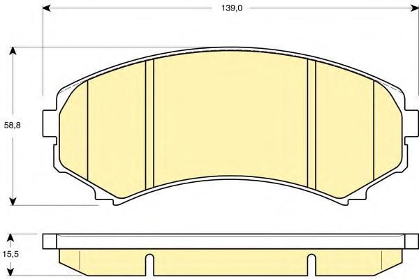 4605A471 Колодки тормозные пер ПАДЖЕРО IV