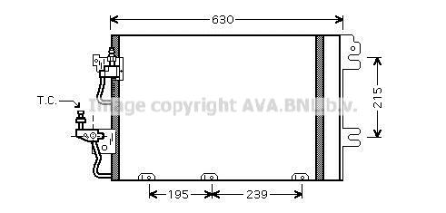 OL5366D Конденсер OPEL ASTRA H / ZAFIRA B 1.4/1.6/1.8/2.0/2.2 04-
