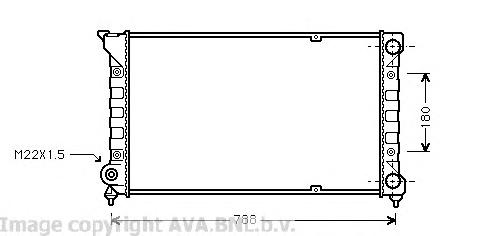 VW2066 Радиатор VAG PASSAT 1.6-2.0 88-97