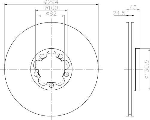 8dd355107311 Тормозной диск
