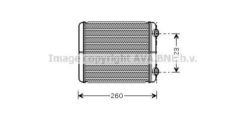 RT6344 Радиатор отопителя RENAULT ESPACE 2.0D/ LAGUNA 1.8 01-
