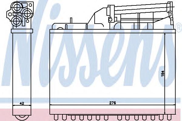 70502 Радиатор отопителя BMW E32/E34 1.8-4.0 86-97