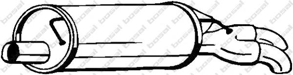 105011 Глушитель AUDI A6 1.9TDI 01-05