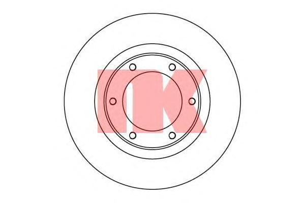 204542 Диск тормозной TOYOTA LAND CRUISER (J80) 4.2-4.5 90-97 передний вент.D=311мм.