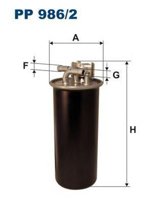 PP9862 Фильтр топливный AUDI A6 2.7-3.0 TDI