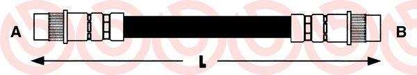 T61049 Тормозной шланг Re Citroen C5 257мм 01-