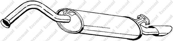 278971 Глушитель AUDI 100/A6 2.0/2.3 92-96
