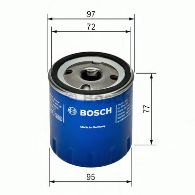 F026407024 Фильтр масляный FIAT DUCATO/DAILY 2.3D 02-