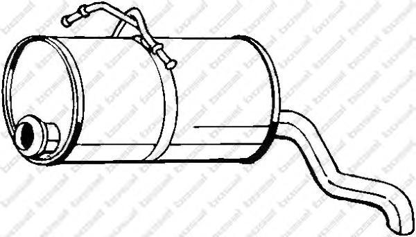 190129 Глушитель PEUGEOT PARTNER/CITROEN BERLINGO 1.1-1.6 03-