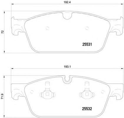 P50112 Колодки тормозные MERCEDES GL X166/ML W166 передние