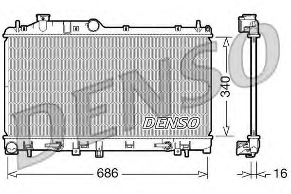 DRM36009 Радиатор SUBARU LEGACY 2.0 05-