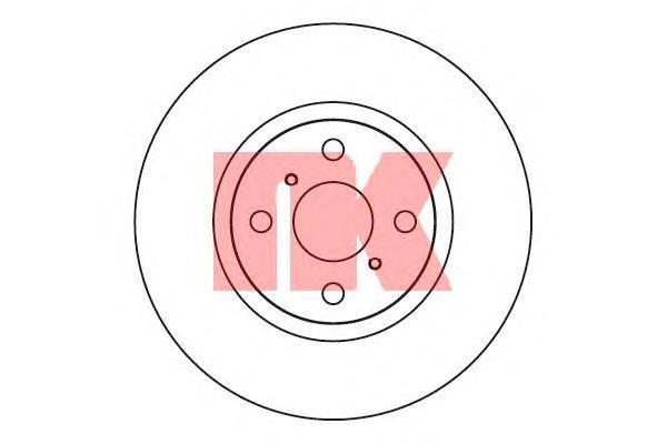 2045108 Диск тормозной TOYOTA YARIS 06- с АБС (пр-во Япония) передний вент.D=275мм.