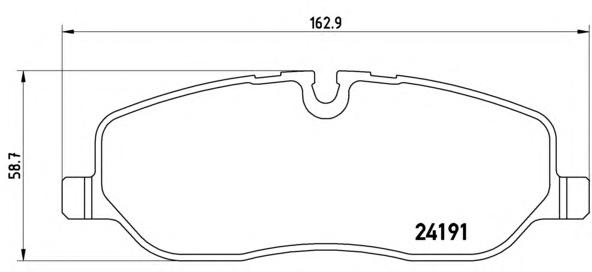 P44014 Колодки тормозные LAND ROVER DISCOVERY III 04/RANGE ROVER 02 передние