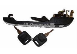1187101670 Ручка окрывания передней двери в сборе с личинкой и ключом левая / AUDI 100,200 83-88