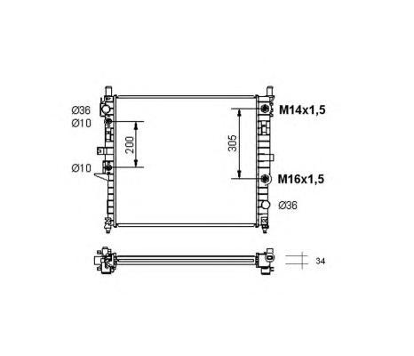 55334 Радиатор MB W163 55AMG 99-