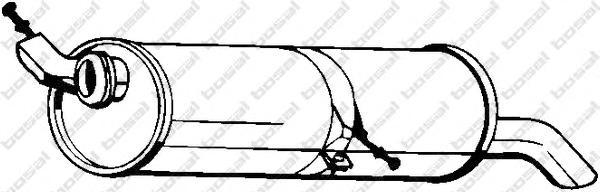 190507 Глушитель CITROEN C4 1.6 04-/PEUGEOT 307 1.4-1.6 00-