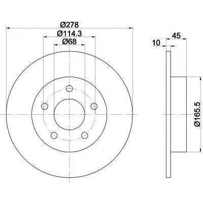 8DD355110401 Диск тормозной NISSAN PRIMERA (P12) 1.6-2.2D 02- задний