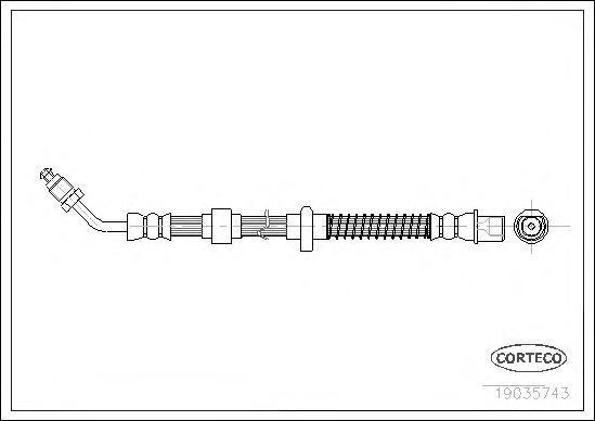 19035743 Шланг тормозной CITROEN: C5 1.6 HDi/1.8 16V/2.0 16V/2.0 HDi/2.2 HDi/2.7 HDi/3.0 V6 08-, C5 Break 1.6 HDi/1.8 16V/2.0 16
